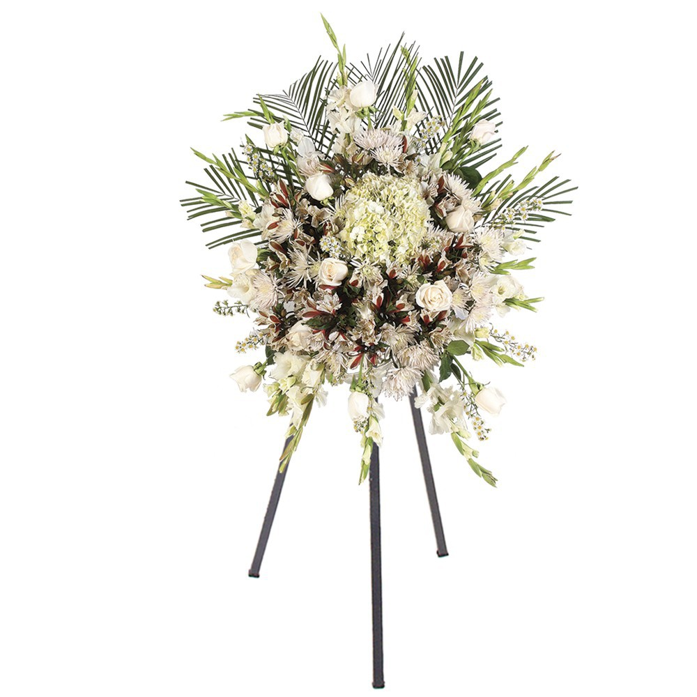 Lagrima con 12 Rosas y Flores con trípode Recuerdos Rosatel