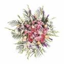 Lágrima con 7 rosas, liliums, gerberas y claveles Recuerdos Rosatel