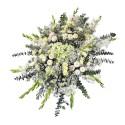 Lágrima sin trípode con gladiolos, hortensias, clavelines y flores varias Recuerdos Rosatel