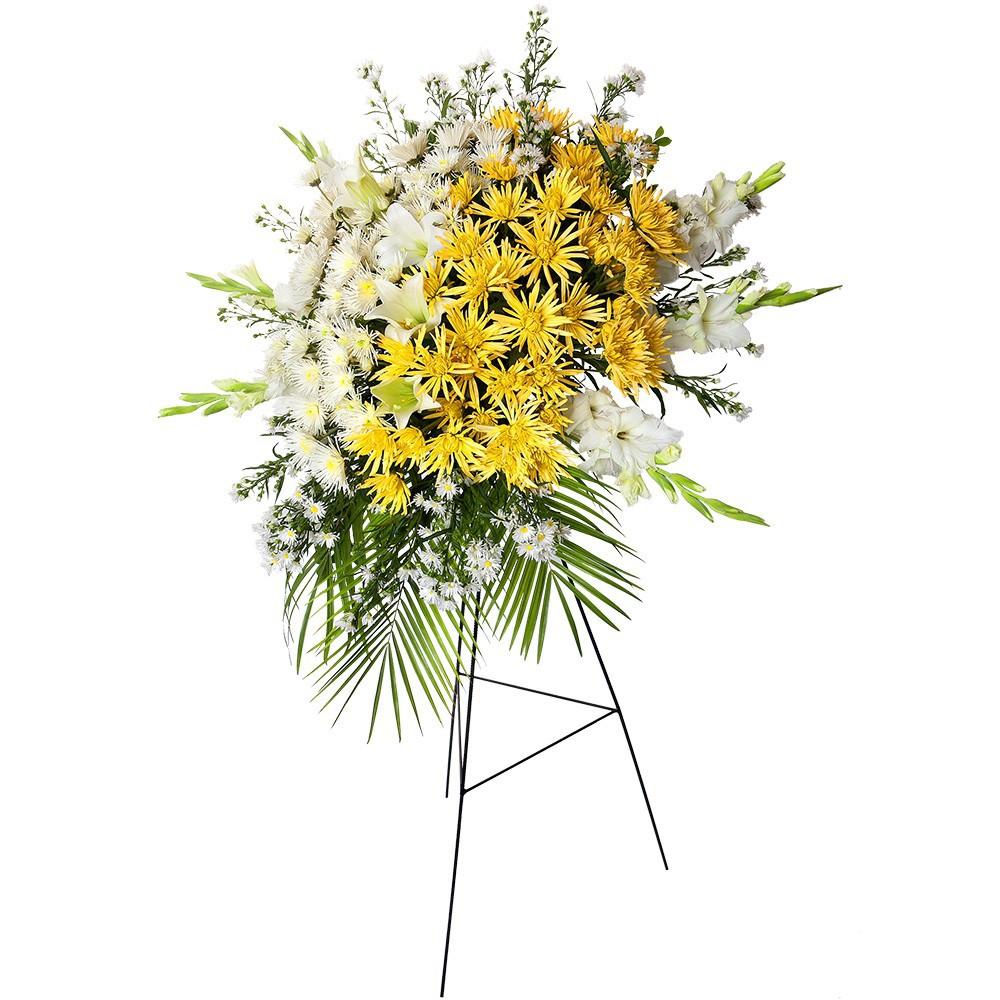 Lágrima c/trípode con gladiolo montecasino araña y flores varias Recuerdos Rosatel