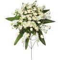 Lágrima c/ trípode con verónica rosa de chacra y flores varias Recuerdos Rosatel