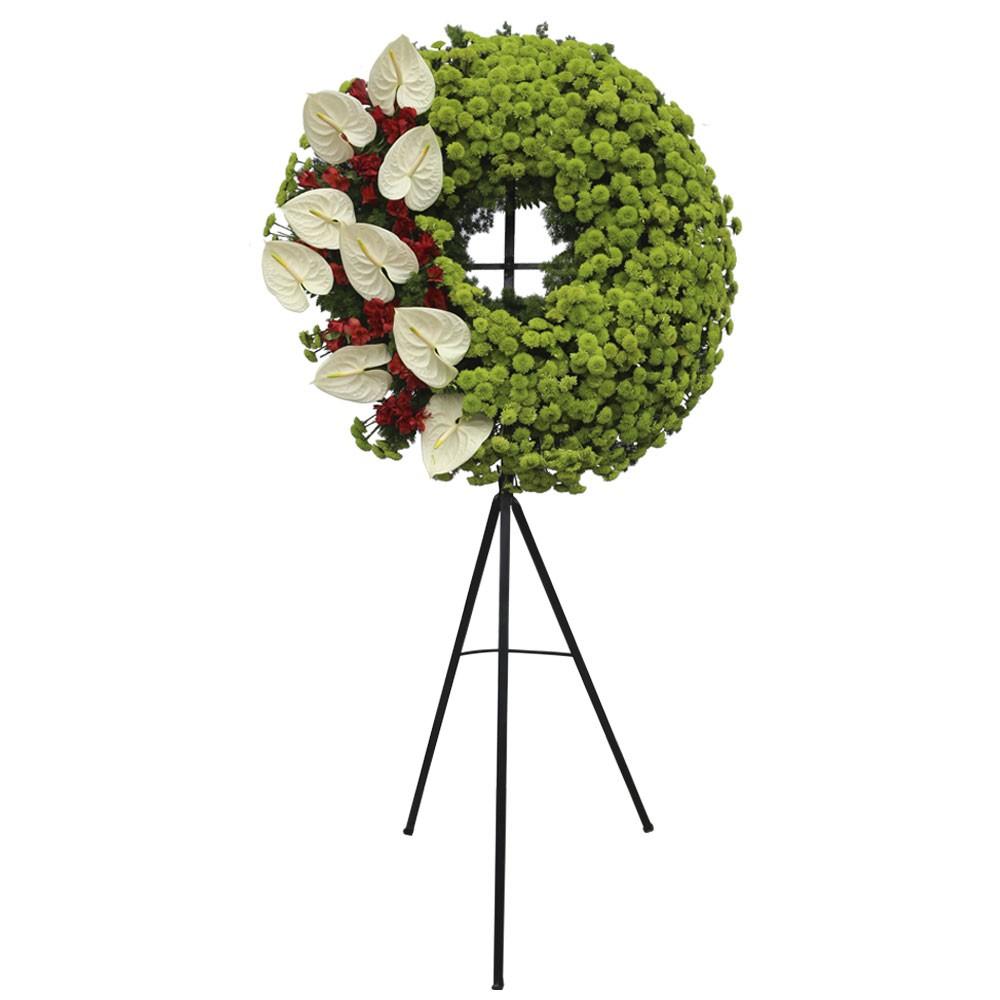 Corona Grande Con Anturios y Flores Recuerdos Rosatel