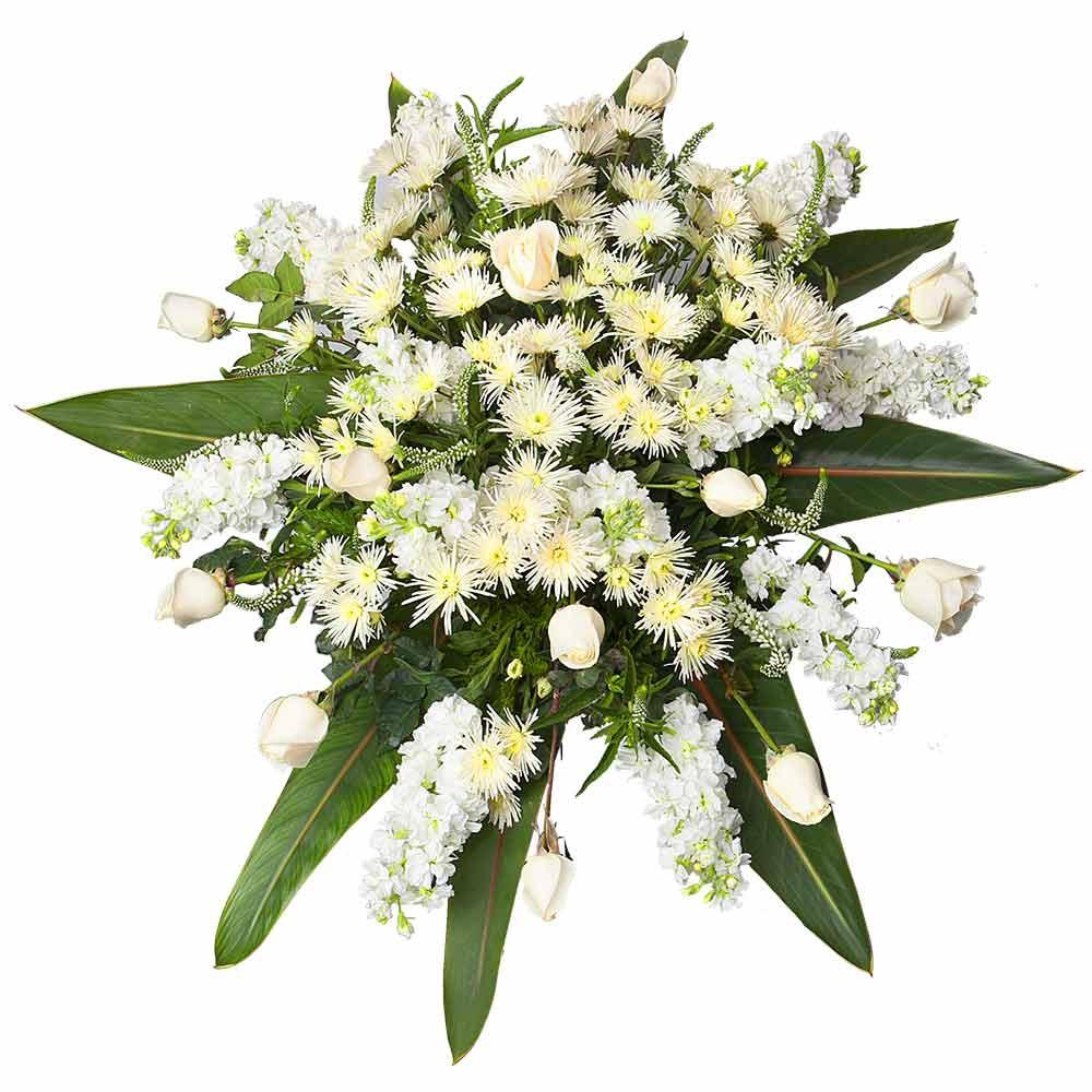 Lágrima con Rosas Cremas y Flores Variadas Recuerdos Rosatel