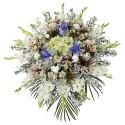 Lágrima sin trípode con gladiolo, hortensia, iris azul y flores varias Recuerdos Rosatel