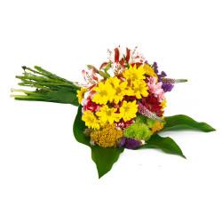 Ramo con Clavelinas Astromelias y Flores