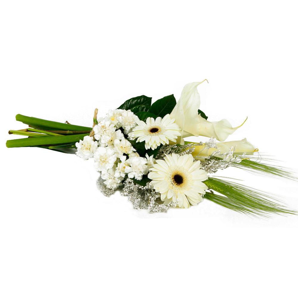 Ramo con Calas Blancas y Flores Recuerdos Rosatel