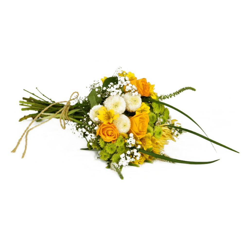 Ramo con Rosas Amarillas y Flores Recuerdos Rosatel