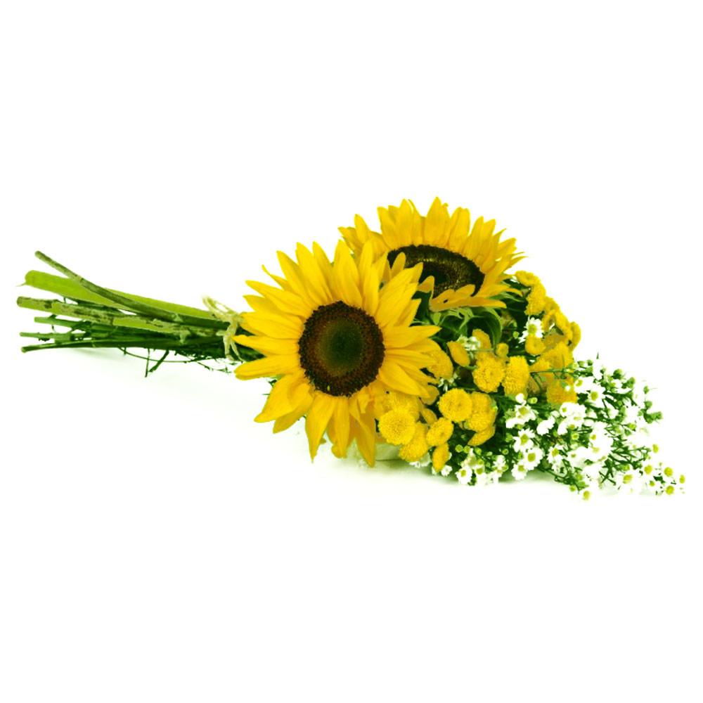 Ramo con Girasoles y Flores Recuerdos Rosatel