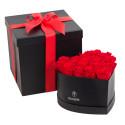 Sombrerera Grande Corazón con 18 Rosas Preservadas Recuerdos Rosatel Lima
